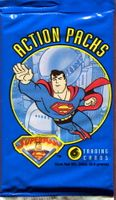 1996 Fleer SkyBox Superman Action Packs Non-Sports Trading Cards Pack