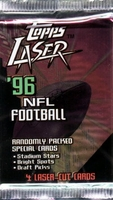 1996 Topps Laser NFL Football Cards Pack