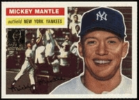 1996 Topps Mickey Mantle Reprints 1956 Topps Baseball Card