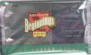 1997 Playoff Absolute Beginnings NFL Football Cards Pack