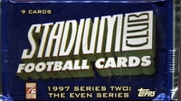 1997 Stadium Club Series 2 Even Series Football Cards Hobby Pack