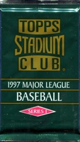 1997 Topps Stadium Club Series 1 Baseball Cards Pack