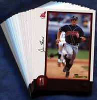 1998 Bowman Cleveland Indians Baseball Card Team Set