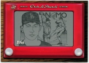 1998 Topps Etch-A-Sketch Hideo Nomo Baseball Card