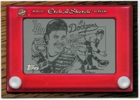 1998 Topps Etch-A-Sketch Mike Piazza Baseball Card