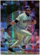 1998 Topps Mystery Finest Borderless Refractors Ken Griffey Jr. Baseball Card
