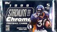 1999 Topps Stadium Club Chrome NFL Football Card Pack