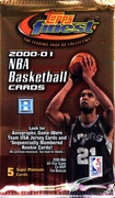 2000-2001 Topps Finest Basketball Cards Pack