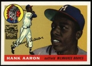 2000 Topps Limited Aaron Specials Hank Aaron 1955 Baseball Card