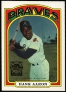 2000 Topps Limited Aaron Specials Hank Aaron 1972 Baseball Card