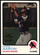 2000 Topps Limited Aaron Specials Hank Aaron 1973 Baseball Card