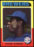 2000 Topps Limited Aaron Specials Hank Aaron 1975 Baseball Card