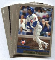 2000 Topps Limited Chicago Cubs Baseball Card Team Set