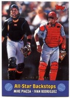 2000 Topps Limited Combos Mike Piazza - Ivan Rodriguez All-Star Backstops Baseball Card