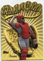 2000 Topps Limited Hands of Gold Ivan Rodriguez Baseball Card