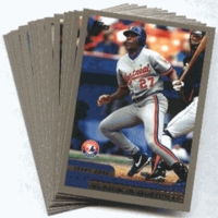 2000 Topps Limited Montreal Expos Baseball Card Team Set