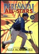 2000 Topps Limited Perennial All-Stars Alex Rodriguez Baseball Card