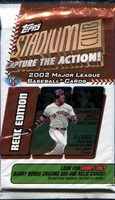 2002 Topps Stadium Club Relic Edition Baseball Cards Hobby Pack