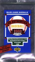 2002 UD Authentics Baseball Cards Pack