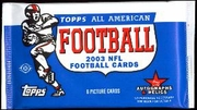 2003 Topps All American Football Cards Hobby Pack