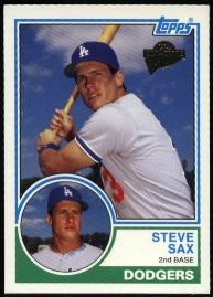 2003 Topps All Time Fan Favorites Steve Sax Baseball Card