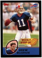 2003 Topps Black Drew Bledsoe Weekly Wrap Up NFL Football Card