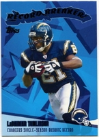 2003 Topps Record Breakers LaDainian Tomlinson NFL Football Card