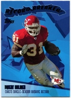 2003 Topps Record Breakers Priest Holmes NFL Football Card