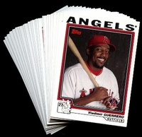 2004 Topps Anaheim Angels Baseball Cards MLB Team Set