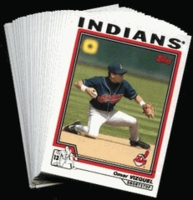 2004 Topps Cleveland Indians Baseball Cards MLB Team Set