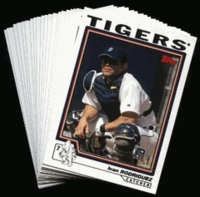 2004 Topps Detroit Tigers Baseball Cards MLB Team Set
