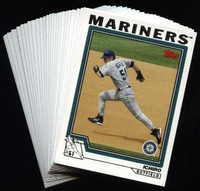 2004 Topps Seattle Mariners Baseball Cards MLB Team Set
