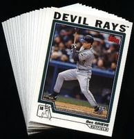 2004 Topps Tampa Bay Devil Rays Baseball Cards MLB Team Set