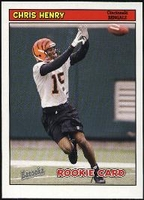2005 Bazooka Chris Henry Rookie NFL Football Card