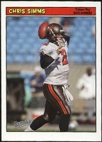 2005 Bazooka Chris Simms NFL Football Card