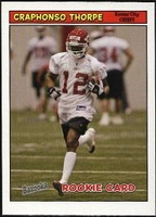 2005 Bazooka Craphonso Thorpe Rookie NFL Football Card