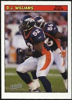 2005 Bazooka D.J. Williams NFL Football Card