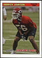 2005 Bazooka Derrick Johnson Rookie NFL Football Card