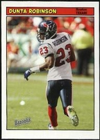 2005 Bazooka Dunta Robinson NFL Football Card