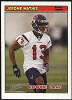 2005 Bazooka Jerome Mathis Rookie NFL Football Card