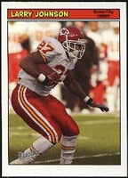 2005 Bazooka Larry Johnson NFL Football Card