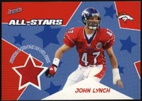 2005 Bazooka Player Worn All-Stars Jerseys John Lynch NFL Football Card