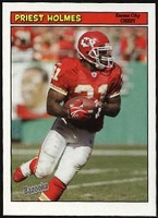 2005 Bazooka Priest Holmes NFL Football Card