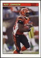 2005 Bazooka Rudi Johnson NFL Football Card