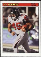 2005 Bazooka T.J. Duckett NFL Football Card