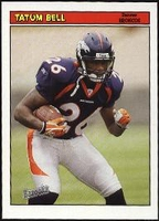 2005 Bazooka Tatum Bell NFL Football Card