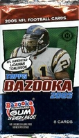 2005 Topps Bazooka NFL Football Cards Hobby Pack