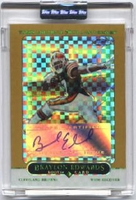 2005 Topps Chrome Gold Xfractors Uncirculated Braylon Edwards Autographed NFL Football Card