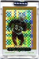 2005 Topps Chrome Gold Xfractors Uncirculated Kirk Morrison NFL Football Card