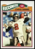 2005 Topps Heritage Chris Simms NFL Football Card